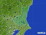 茨城県のアメダス実況(風向・風速)(2020年01月30日)