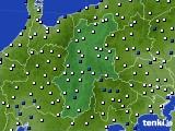 長野県のアメダス実況(風向・風速)(2020年01月30日)