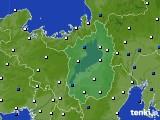 2020年01月30日の滋賀県のアメダス(風向・風速)