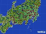 関東・甲信地方のアメダス実況(日照時間)(2020年01月31日)