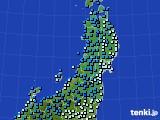 2020年01月31日の東北地方のアメダス(気温)