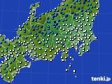 関東・甲信地方のアメダス実況(気温)(2020年01月31日)