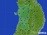 2020年01月31日の秋田県のアメダス(気温)