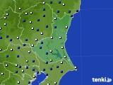 茨城県のアメダス実況(風向・風速)(2020年01月31日)