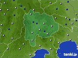 山梨県のアメダス実況(風向・風速)(2020年01月31日)