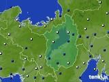 滋賀県のアメダス実況(風向・風速)(2020年01月31日)
