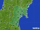 2020年01月31日の宮城県のアメダス(風向・風速)