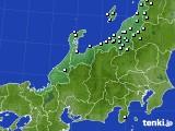北陸地方のアメダス実況(降水量)(2020年02月01日)