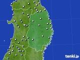 岩手県のアメダス実況(降水量)(2020年02月01日)