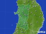 秋田県のアメダス実況(降水量)(2020年02月01日)