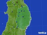 岩手県のアメダス実況(積雪深)(2020年02月01日)