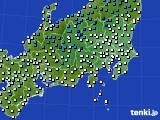 関東・甲信地方のアメダス実況(気温)(2020年02月01日)