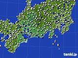 東海地方のアメダス実況(風向・風速)(2020年02月01日)