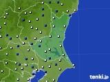茨城県のアメダス実況(風向・風速)(2020年02月01日)