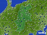 長野県のアメダス実況(風向・風速)(2020年02月01日)