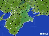三重県のアメダス実況(風向・風速)(2020年02月01日)