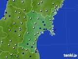 2020年02月01日の宮城県のアメダス(風向・風速)
