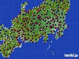 関東・甲信地方のアメダス実況(日照時間)(2020年02月02日)