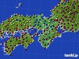 近畿地方のアメダス実況(日照時間)(2020年02月02日)