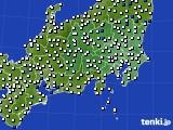 関東・甲信地方のアメダス実況(風向・風速)(2020年02月02日)