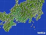2020年02月02日の東海地方のアメダス(風向・風速)