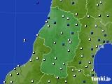 2020年02月02日の山形県のアメダス(風向・風速)