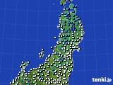 2020年02月03日の東北地方のアメダス(気温)