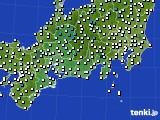 2020年02月03日の東海地方のアメダス(気温)