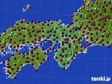 近畿地方のアメダス実況(日照時間)(2020年02月04日)