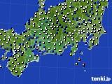 2020年02月05日の東海地方のアメダス(風向・風速)