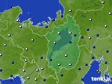 滋賀県のアメダス実況(風向・風速)(2020年02月05日)