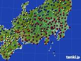 関東・甲信地方のアメダス実況(日照時間)(2020年02月06日)