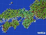 近畿地方のアメダス実況(日照時間)(2020年02月06日)