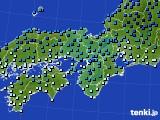 2020年02月06日の近畿地方のアメダス(気温)