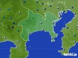 神奈川県のアメダス実況(気温)(2020年02月06日)