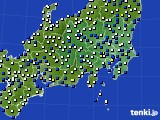 関東・甲信地方のアメダス実況(風向・風速)(2020年02月06日)