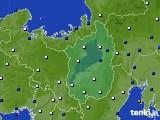 滋賀県のアメダス実況(風向・風速)(2020年02月06日)