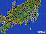 関東・甲信地方のアメダス実況(日照時間)(2020年02月07日)