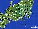 関東・甲信地方のアメダス実況(風向・風速)(2020年02月07日)
