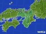 近畿地方のアメダス実況(降水量)(2020年02月08日)