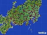 関東・甲信地方のアメダス実況(日照時間)(2020年02月08日)