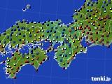 近畿地方のアメダス実況(日照時間)(2020年02月08日)