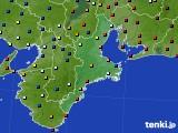 2020年02月08日の三重県のアメダス(日照時間)
