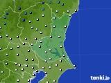 茨城県のアメダス実況(気温)(2020年02月08日)