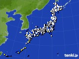 アメダス実況(風向・風速)(2020年02月08日)