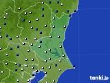 茨城県のアメダス実況(風向・風速)(2020年02月08日)