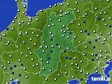 長野県のアメダス実況(風向・風速)(2020年02月08日)