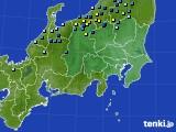 関東・甲信地方のアメダス実況(積雪深)(2020年02月09日)