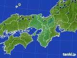 近畿地方のアメダス実況(積雪深)(2020年02月09日)