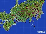 東海地方のアメダス実況(日照時間)(2020年02月09日)